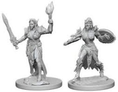 W1 Pathfinder Battles Unpainted Minis - Elf Female Fighter
