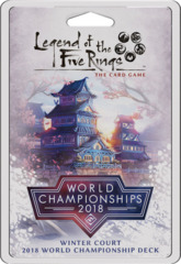 L5R: World Chamionship 2018 Winter Court Deck