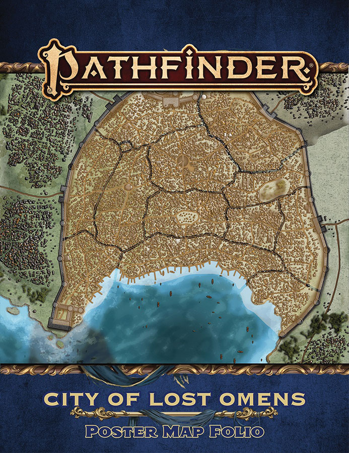 Pathfinder RPG: Lost Omens - City of Lost Omens Poster Map (P2)