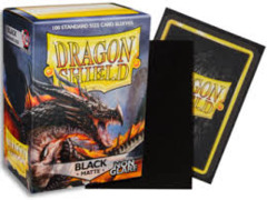 Dragon Shield Sleeves: Non-Glare Matte Black (Box Of 100)