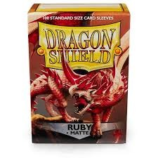Dragon Shield Box of 100 in Matte Ruby