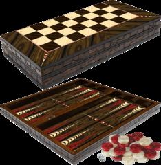 Backgammon - Walnut Elegance Edition