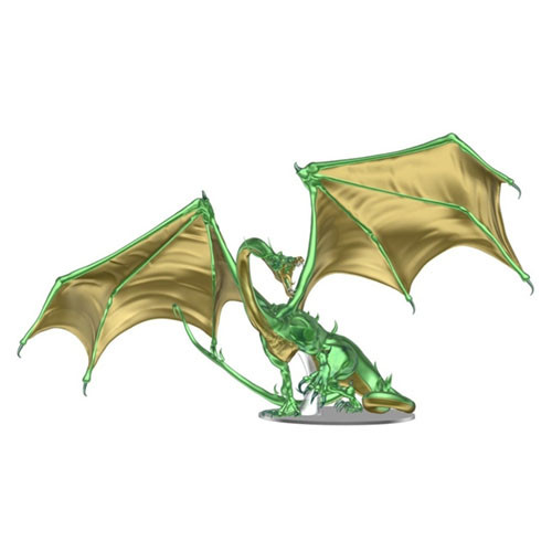 PREORDER: Dungeons & Dragons Fantasy Miniatures: Icons of the Realms - Adult Emerald Dragon Premium Figure