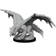 Dungeons & Dragons Nolzur`s Marvelous Unpainted Miniatures: W11 Green Dragon Wyrmling & Afflicted Elf