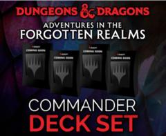 Set of 4 Commander Decks  • Adventures in the Forgotten Realms