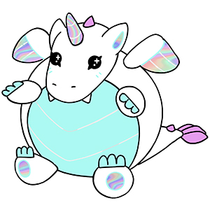 Mini Squishable Crystal Dragon • 7 Inch