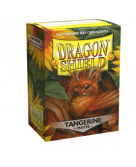 Dragon Shield Sleeves: Matte Tangerine (Box of 100)