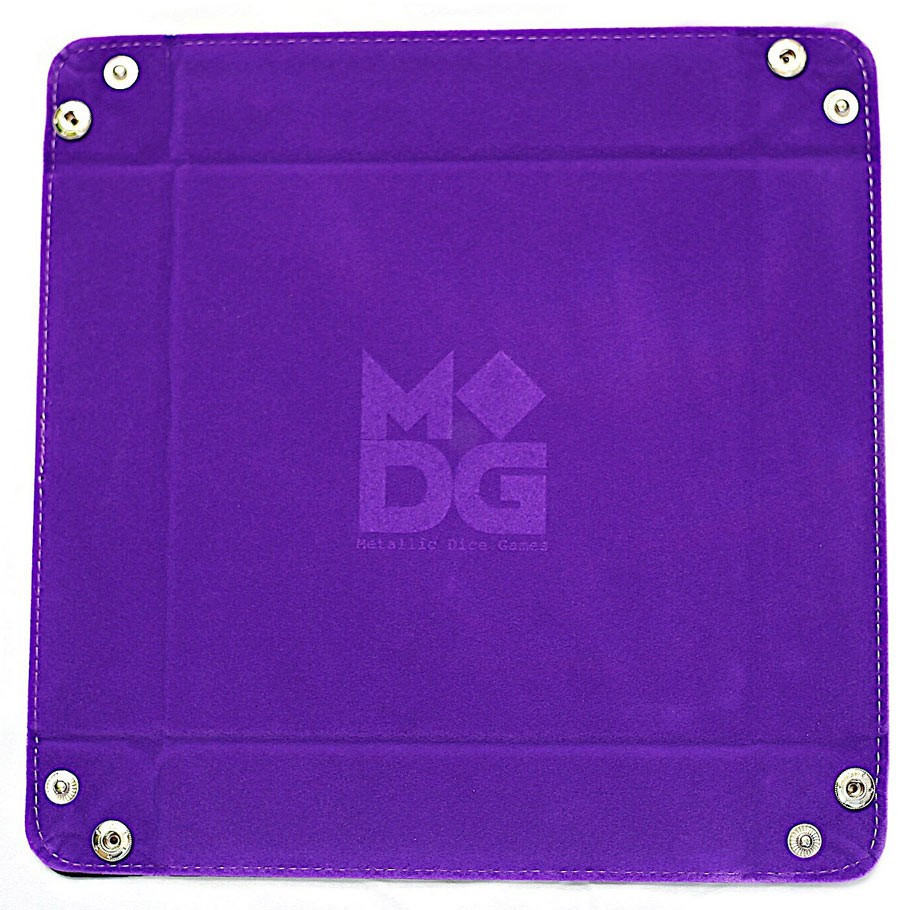 MDG: Purple Velvet Dice Tray with Leather Backing