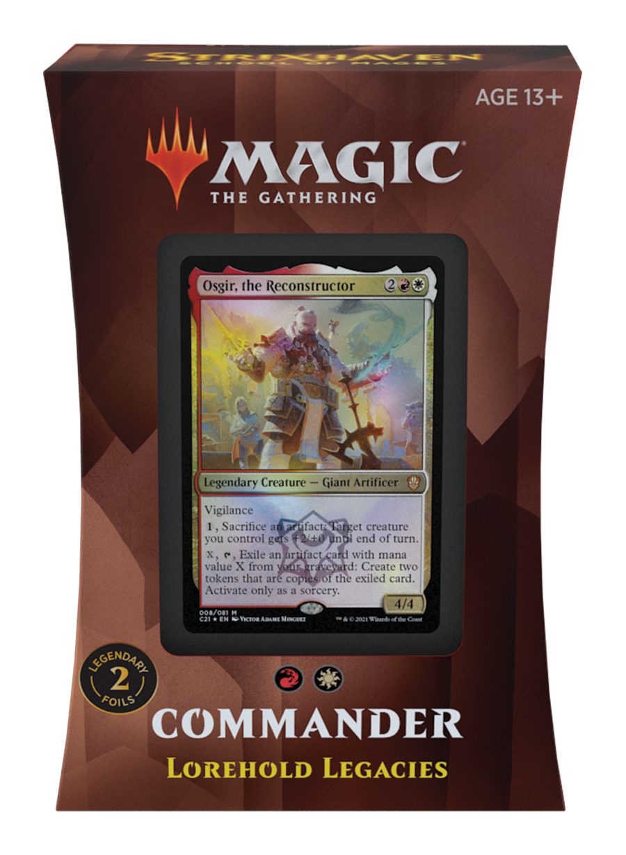 Strixhaven Commander 2021 Deck: Lorehold Legacies