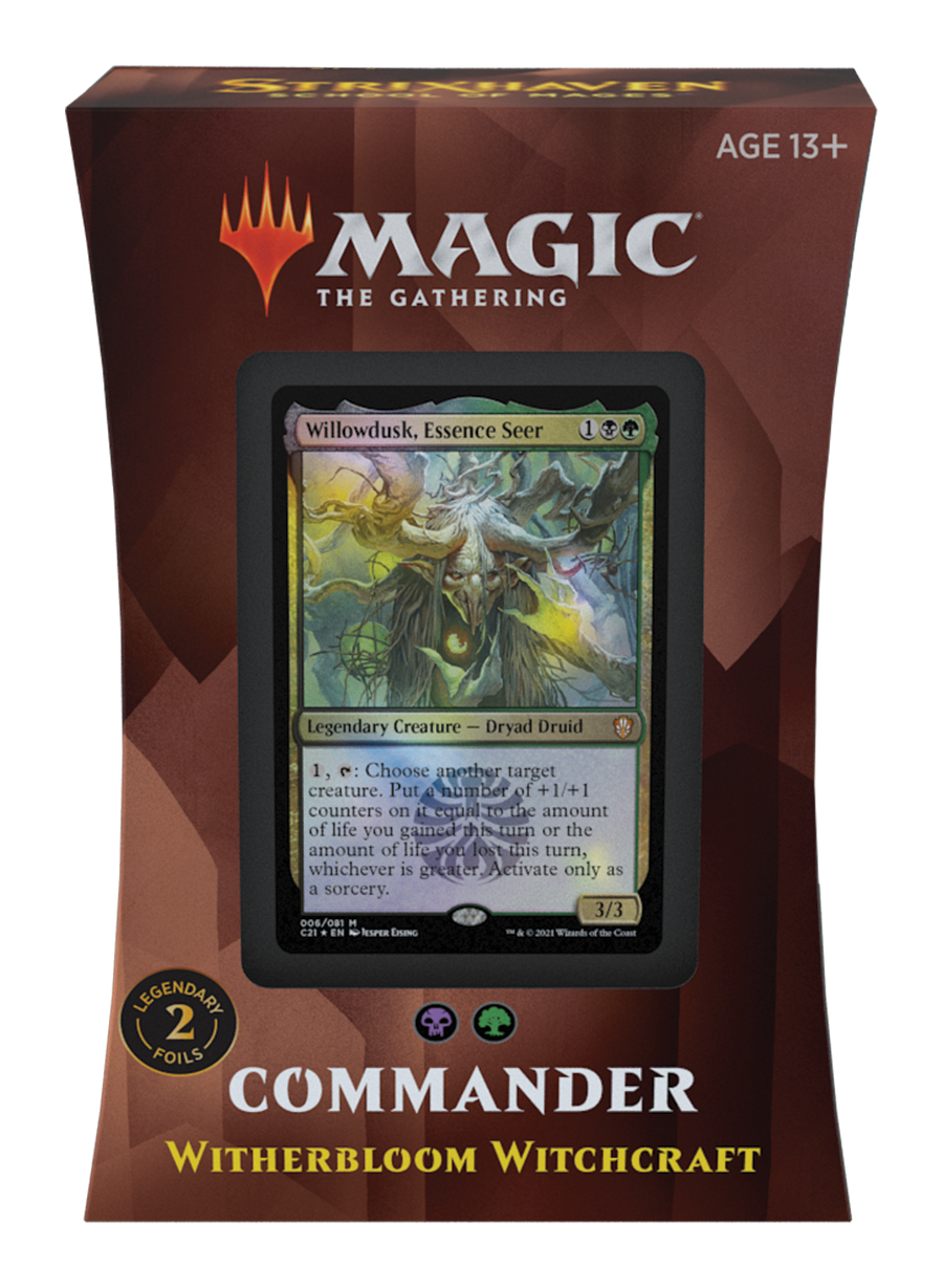 Strixhaven Commander 2021 Deck: Witherbloom Witchcraft