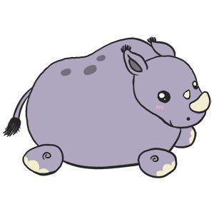Mini Squishable Baby Rhino • 7 Inch