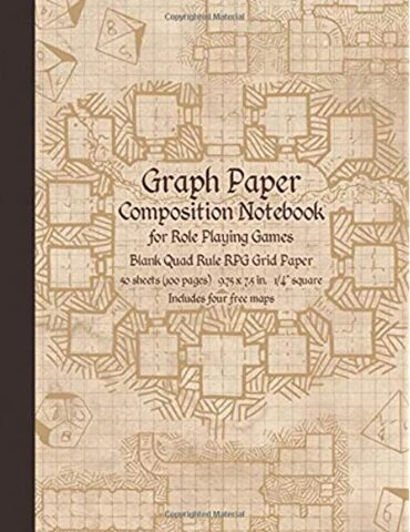 Graph Paper Composition Notebook for Role Playing Games