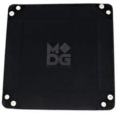 MDG: Black Velvet Dice Tray with Leather Backing
