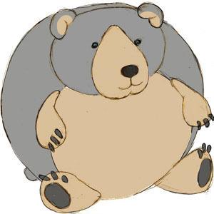 Mini Squishable Black Bear • 7 Inch