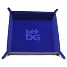 MDG: Blue Velvet Dice Tray with Leather Backing