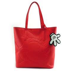 Loungefly x Minnie Red Debossed Tote Bag