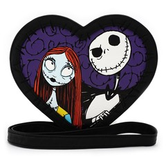 Loungefly x The Nightmare Before Christmas Jack & Sally Heart Crossbody Bag