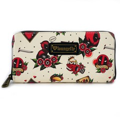 Loungefly Marvel Deadpool Tattoo Flash Print Wallet