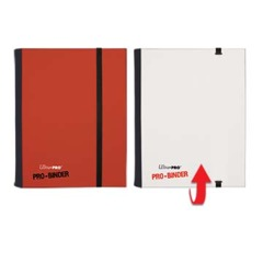 Ultra Pro: Red & White 4-Pocket Flip PRO-Binder