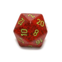 Chessex D20 34mm Speckled Dice, Strawberry (CHXXS2035)