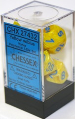 Chessex Vortex Polyhedral 7-Die Set Yellow/Blue (27432)