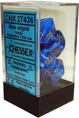Chessex Vortex Polyhedral 7-Die Set Blue/Gold (27436)