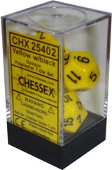 Chessex Opaque Polyhedral 7-Die Set Yellow/Black (25402)