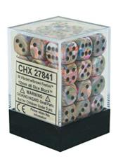 Chessex D6 -- 12MM FESTIVE DICE, VIBRANT/BROWN, 36CT (27841)