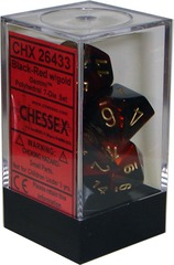 Chessex 7 ct Gemini Die set Polyhedral Black-Red (26433)