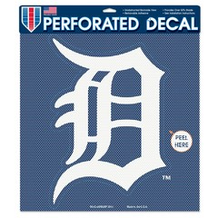 Detroit Tigers Perforated Vinyl Decal 17