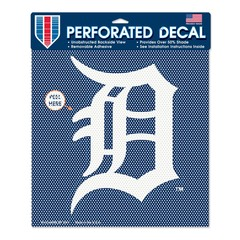 Detroit Tigers Perforated Vinyl Decal 12