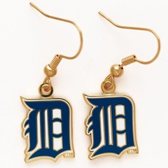 Detroit Tigers Earrings Jewelry Card Item #50435061