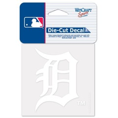 Detroit Tigers Perfect Cut White Decal 4