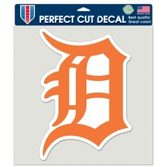 Detroit Tigers Orange Perfect Cut Color (Orange)  Decal 8