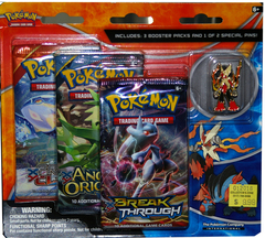 Mega Blaziken and Mega Swampert 3-Pack Pin Blister