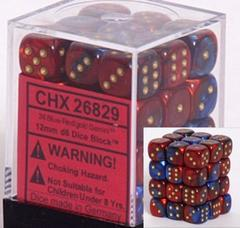 Chessex 36 ct 12mm D6 Gemini Blue Red (CHX26829)