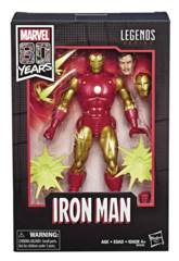 MARVEL LEGENDS 80TH ANN COMIC IRON MAN 6IN AF