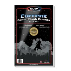 BCW Current Comic Backing Boards 6 3/4 X 10 1/2  100 Boards per Pack