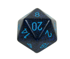 Chessex D20 34mm Speckled Dice, Cobalt (CHXXS2053)