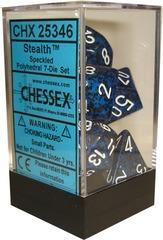 Chessex 7 ct Speckled Polyhedral Die Set Stealth (25346)