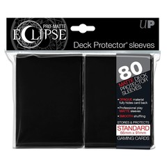 PRO-Matte Eclipse Black Standard Deck Protector sleeves 80ct