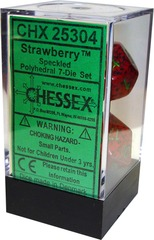 Chessex 7 ct Speckled Polyhedral Die Set Strawberry (25304)