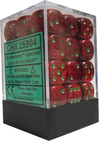 Chessex 36 ct 12mm D6 Speckled Strawberry (CHX25904)