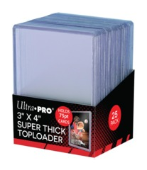 Ultra-Pro Top Loader 3X4  75PT Thick Toploader (81347)