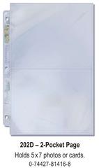 Ultra-Pro (2) Pocket Page(s)  5 x 7