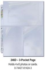 Ultra-Pro (3) Pocket Page(s) 4 x 6