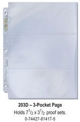 Ultra-Pro (3) Pocket Page(s) 7.5 x 3.5