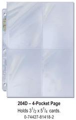 Ultra-Pro (4) Pocket Page(s) 3.5 x 5.25