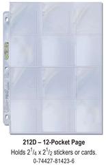Ultra-Pro (12) Pocket Page(s) 2.25 x 2.5