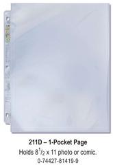 Ultra-Pro (1) Pocket Page(s) 8.5 x 11